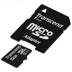 Карта памяти MicroSDHC 32Gb Transcend Class10 UHS-I [TS32GUSDU1] (SD адаптер)