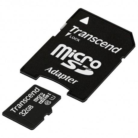 Карта памяти MicroSDHC 32Gb Transcend Class10 SD adapter TS32GUSDU1 Premium UHS-I