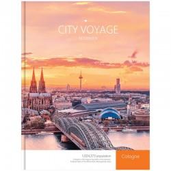 """Бизнес-блокнот Спейс А4 80л. """"Города. City voyage"""" (ББ4т80ц 7518)"""