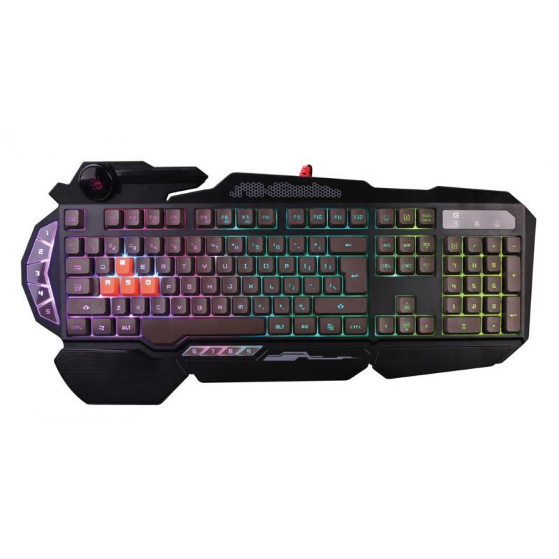 Игровая клавиатура USB A4Tech Bloody B314 мембранная, частично механика, 113 клавиш, Black