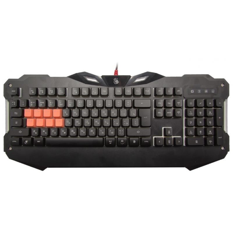 Игровая клавиатура USB A4Tech Bloody B328 мембранная, частично механика, 104 клавиши, Black