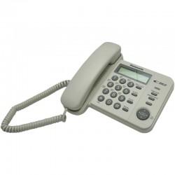 Телефон Panasonic KX-TS2356 RUW (повторн.набор/тон.набор/настен.установка/книга-50н/АОН/отключение микрофона/блокировка набора номера/индикатор вызова)