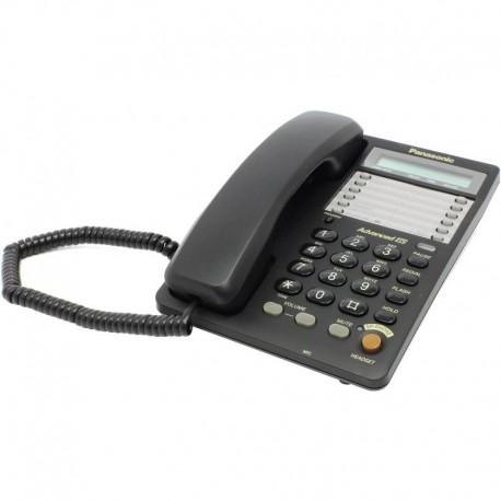 Телефон Panasonic KX-TS2365 RUB (повторн.набор/тон.набор/настен.установка/память-30н/быстр.набор-20кн/спикерфон/блокировка набора номера/отключение микрофона/удержание линии/индикатор вызова/дисплей/часы/разъем гарнитуры)