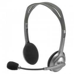 Гарнитура Logitech H111 (981-000593) накладные, 32Ом, 100дБ, кабель 1.8м, Gray