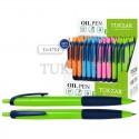 Ручка шариковая TUKZAR цветной корпус, масляная, автомат TZ 4784