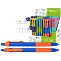 Ручка шариковая TUKZAR цветной корпус, масляная, автомат TZ 4785