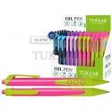 Ручка шариковая TUKZAR цветной корпус, масляная, автомат TZ 4786