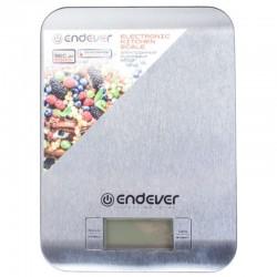 Кухонные весы Endever KS-525 Silver электронные, металл, макс. 5кг, точность 1г, авто вкл/выкл