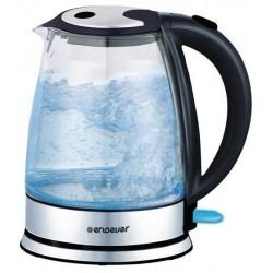 Чайник Endever KR-303G Silver/Black (2200Вт,1.7л,металл/стекло,закрытая спираль)