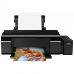 Принтер Epson L805 (A4 струйный 5760x1440dpi,37стр/м,USB2.0,WiFi СНПЧ в комплекте,печать на CD/DVD)