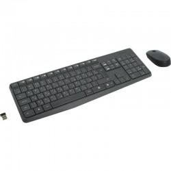 Комплект (клавиатура+мышь) Logitech MK235 (920-007948) радиус действия до 10м,Grey беспроводной