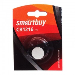Батарейка CR1216 Smartbuy 1 шт./3В. литиевая(SBBL-1216-1B)