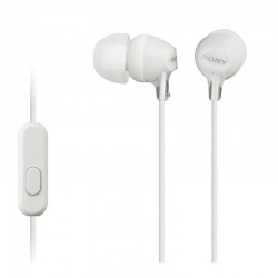 Гарнитура Sony MDR-EX15AP вставные, 16Ом, 100дБ, кабель 1.2м, White