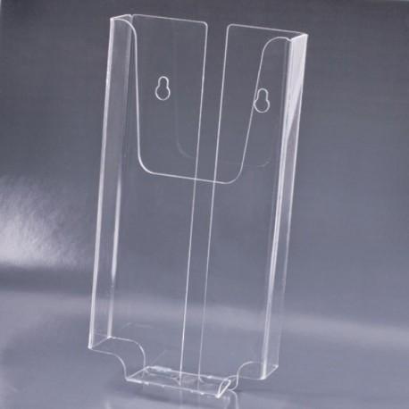 Подставка для рекламы BRAUBERG верт.105х210х30мм, настен, оргстекло, 290434