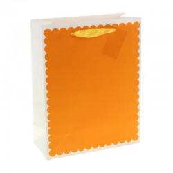 """Пакет подарочный ламинированный """"Ажур"""", цвет оранжевый 11*25*32см  893576"""