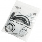 Кабель - microUSB-USB Type C 1.8м Cablexpert CCP-USB2-mBMCM-6