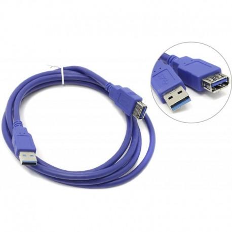 Кабель удлинительный USB3.0 Am-Af  1.8м AOpen (ACU302-1.8M), черный