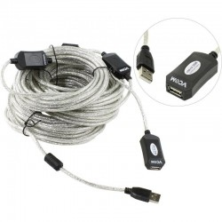 Кабель удлинительный USB2.0 AA 25м VCOM VUS7049 активный