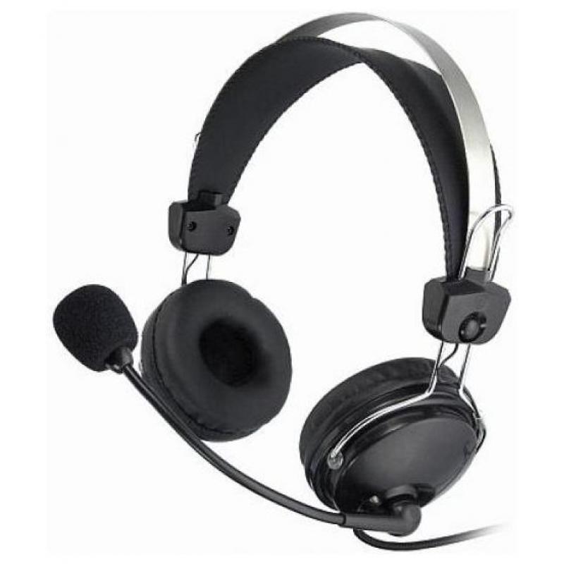Гарнитура A4Tech HS-7P мониторные, 32Ом, 97дБ, кабель 2м, Black