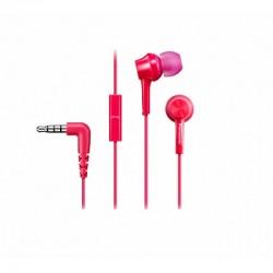 Гарнитура Panasonic RP-TCM105E-P вкладыши, 16Ом, 99дБ, кабель 1.2м, Pink