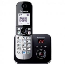 Радиотелефон Panasonic KX-TG6821RUM,серый 1трубка/50м/300м/АОН/книга 120номеров/спикерфон/автоответчик/-/15-170ч/800мАч/Радио-няня