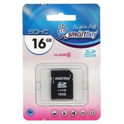 Карта памяти SDHC 16Gb SmartBuy Class10 SB16GBSDHCCL10