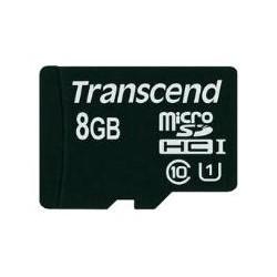 Карта памяти MicroSDHC 8Gb Transcend Class10 UHS-I [TS8GUSDCU1] (без адаптера)