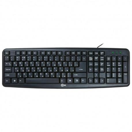 Клавиатура USB CBR KB-107 мембранная, 107 клавиш, Black