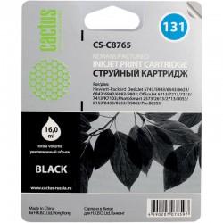 Картридж струйный Cactus CS-C8765 №131 для HP DJ 5743/5943/6543/6623/6843/6943/6983/9803/DJ 6313/7213/7313/7413/K7103/PS 2573/2613/2713/8053/8153/8453/8753/D5063/Pro B8353 Black