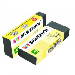 Ластик Silwerhof RAVEN, в бумажной обертке, 62х21х10мм, цв. черный, 181084