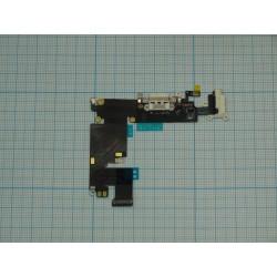 Шлейф iPhone 6 Plus на системный разъем/разъем гарнитуры/микрофон белый