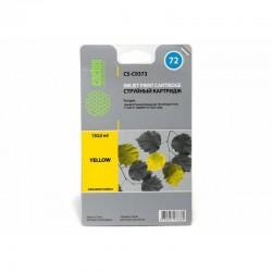 Картридж струйный Cactus CS-C9373 №72 для HP DJ T610/T620/T770/T1100/T1100/T1120/T1200 Yellow