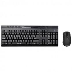 Комплект (клавиатура+мышь) Oklick 280M радиус действия до 10м,Black беспроводной