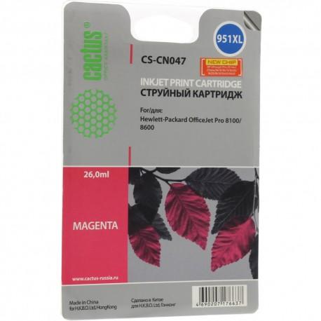 Картридж струйный CACTUS CS-CN047 (№951XL) для HP DJ Pro 8100/8600 Magenta (26мл)