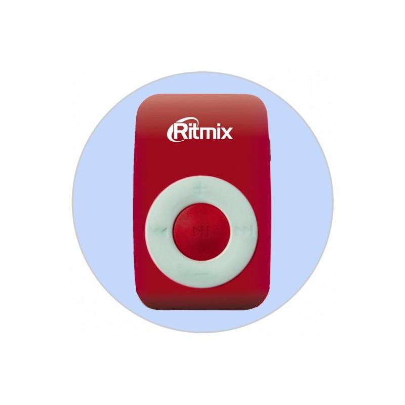 Плеер-MP3 RITMIX RF-1010 Красный MP3,microSD,клипса