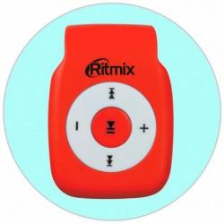 MP3 плеер RITMIX RF-1015 Красный (MP3,microSD,клипса)