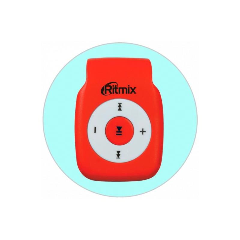 Плеер-MP3 RITMIX RF-1015 Красный MP3,microSD,клипса