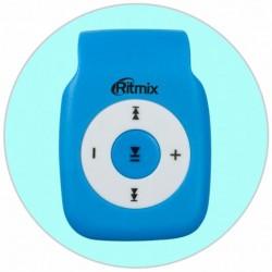 MP3 плеер RITMIX RF-1015 Синий (MP3,microSD,клипса)