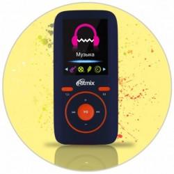 """MP3 плеер RITMIX RF-4450 4Gb СинийОранжевый (1.8"""",MP3,WMA,JPG,BMP,MicroSDHC до 16Gb,до 8ч)"""