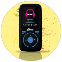 """MP3 плеер RITMIX RF-4450 4Gb ЧерныйСиний (1.8"""",MP3,WMA,JPG,BMP,MicroSDHC до 16Gb,до 8ч)"""