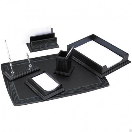Набор настольный DELUCCI 6 предметов, черный дуб (MBn_06202)