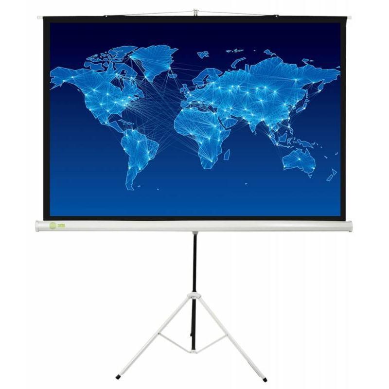 Экран 150х150см на штативе Cactus CS-PST-150x150 Triscreen рулонный белый