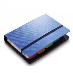 Визитница DELI на 120 виз., А6, пластик, с разделителями (5777)