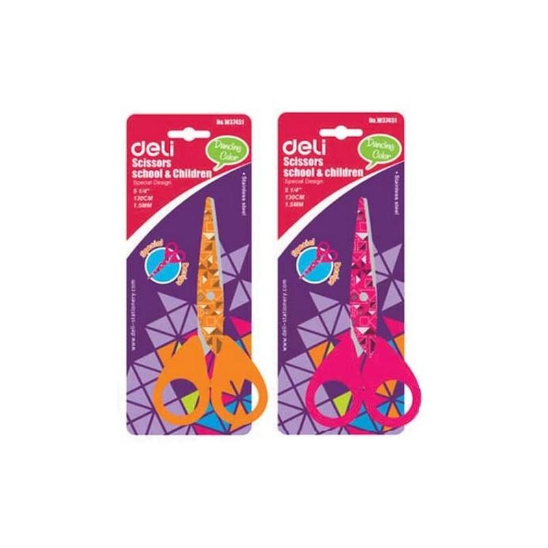 Ножницы 13см. DELI с рисунком (E37451A)