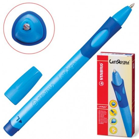 Ручка шариковая STABILO 6318/1-10-41 голубой корп. (д/левш.)