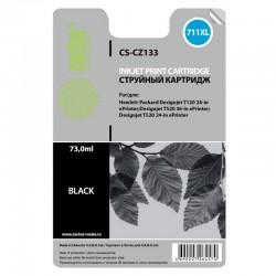 Картридж струйный Cactus CS-CZ133 (№711) для HP DJ T120/T520 Black