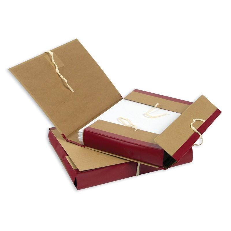 Короб архивный 5см. крафт/бумвинил, 4 завязки (54818)