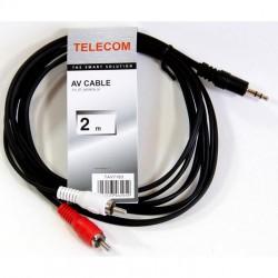 Кабель аудио 3.5Дж-2RCA -  2м