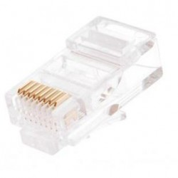 Коннектор - RJ-45 5E уп 100шт NIKOMAX NMC-RJ88RE06UD1-100, покрытие 6мкд,C314
