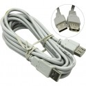 Кабель удлинительный USB2.0 AA 3м Telecom